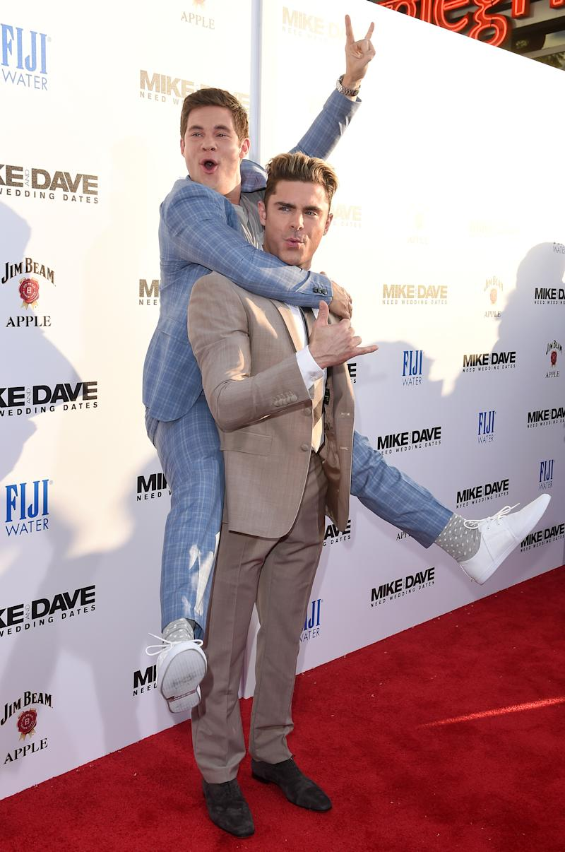 How come we never noticed that zac efron and adam devine always picture of zac efron and adam devine piggyback kristyandbryce Images