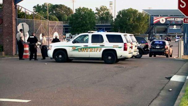 PHOTO: A woman was accidentally shot by her 8-year-old child during a baseball game at the USA Stadium, Millington, Tenn., May 14, 2019. (WREG)
