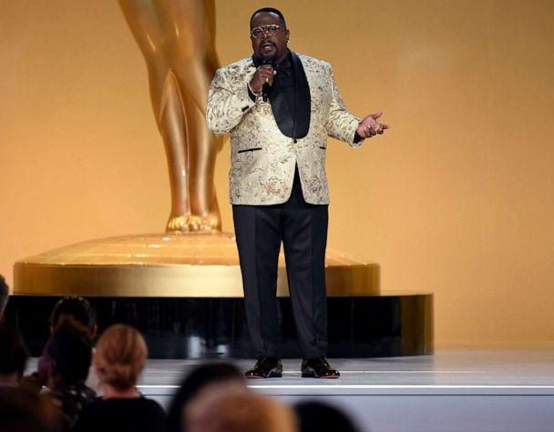 PHOTO: Cedric The Entertainer hosts during the 73rd Emmy Awards on Sept. 19, 2021, in Los Angeles. (Phil McCarten/Invision for the Television Academy via USA TODAY)