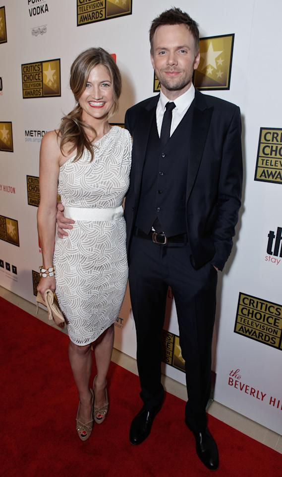 Joel McHale and guest attend the 2012 Critics' Choice Television Awards at The Beverly Hilton Hotel on June 18, 2012 in Beverly Hills, California.