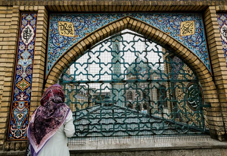 Iran allowed worshippers to attend Friday prayers in some mosques around the country but not in Tehran due to the risk of renewed coronavirus outbreaks (AFP Photo/ATTA KENARE)