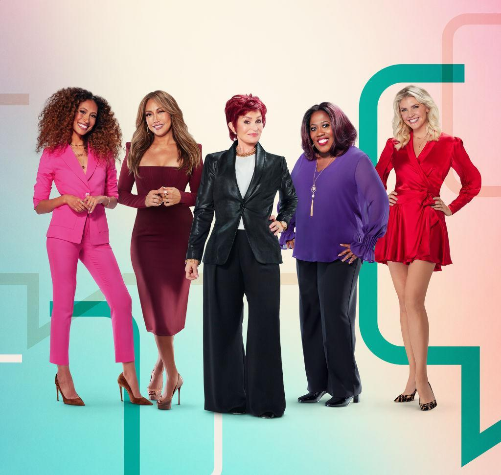 From left, Elaine Welteroth, Carrie Ann Inaba, Sharon Osbourne, Sheryl Underwood and Amanda Kloots hosted