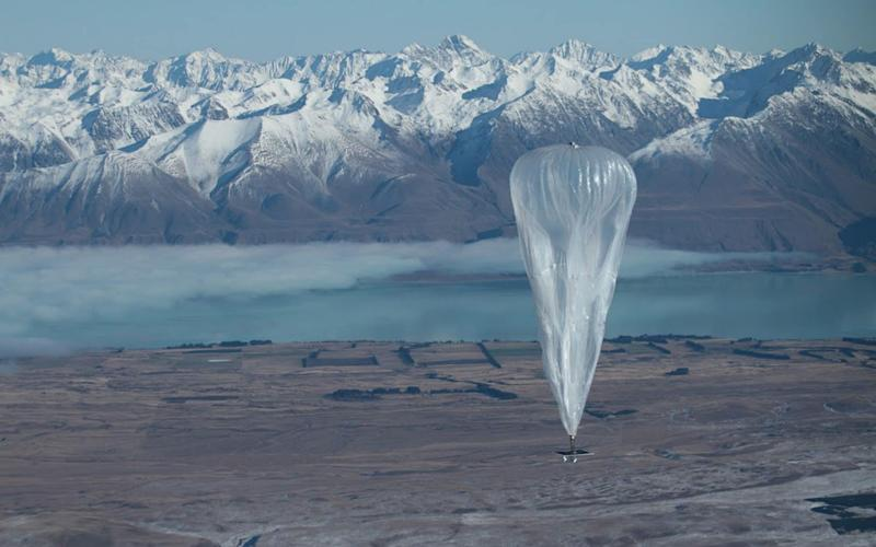 Google's Project Loon uses balloons to send mobile phone signals to remote areas - AFP