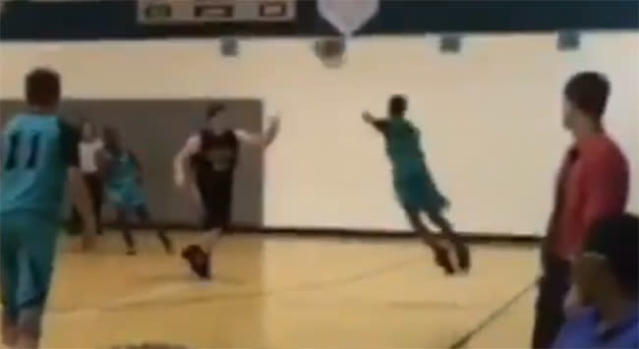 Jamarion Styles hits a three-point shot in a video that has gone viral.