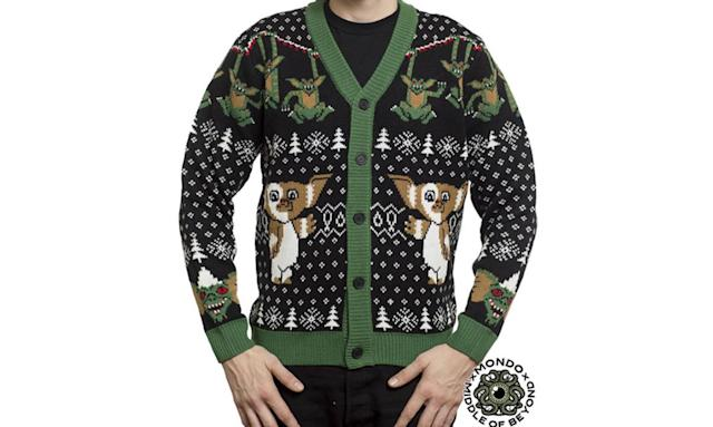"<p>Some people like pullovers. But for those whose ugly pop culture Christmas sweater tastes lean towards the cardigan, here ya go. <strong><a href=""https://middleofbeyond.com/products/gremlins-cardigan"" rel=""nofollow noopener"" target=""_blank"" data-ylk=""slk:Buy here"" class=""link rapid-noclick-resp"">Buy here</a></strong> </p>"
