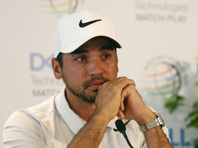 A visibly emotional Jason Day broke down in his post-round press conference: Getty