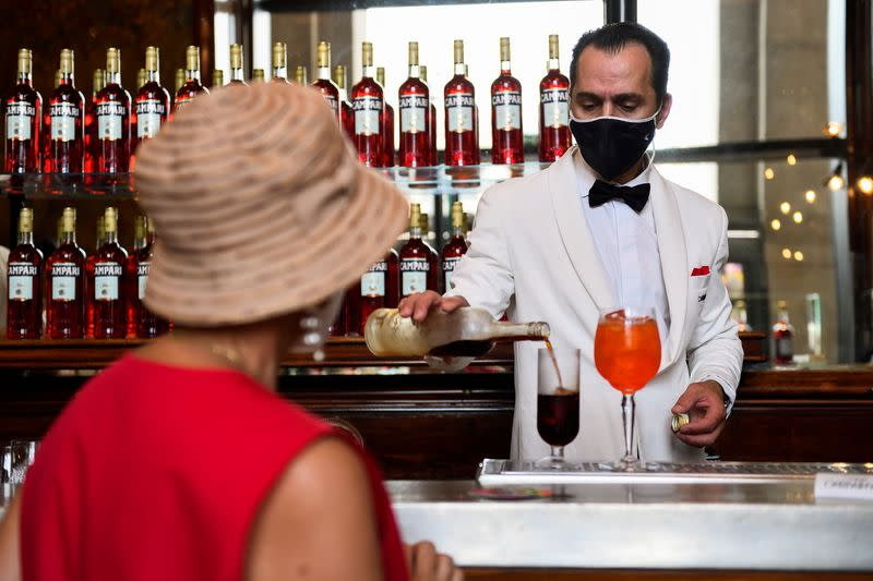 FILE PHOTO: The Camparino bar is seen in Milan
