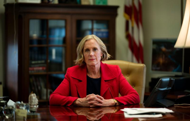 Special Narcotics Prosecutor for the City of New York, Bridget G. Brennan, poses for a photo during an interview in her office about Fentanyl, in New York on May 28, 2019. (Photo by Johannes EISELE / AFP) (Photo credit should read JOHANNES EISELE/AFP/Getty Images)