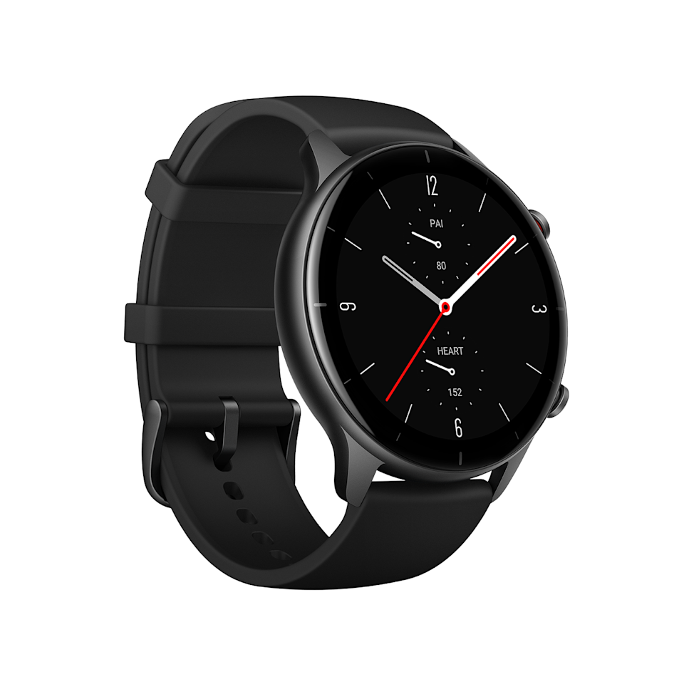 "<p>AmazFit's new smartwatches, the GTS 2E and the GTR 2E, are designed to make meeting your health and fitness goals a little simpler. Both watches offer sensors that can track things like heart rate, your blood oxygen level, and even stress levels. The watches can also offer up breathing exercises and a sedentary reminder, which lets you know when you can use a little movement. </p><p>The main difference in the two watches is the design. The GTS 2E has a larger square display, while the GTR 2E's is a touch smaller and circular. </p><p><strong>Date available:</strong> Now</p><p><a class=""link rapid-noclick-resp"" href=""https://us.amazfit.com/products/amazfit-gts2e"" rel=""nofollow noopener"" target=""_blank"" data-ylk=""slk:Shop it here"">Shop it here</a></p>"