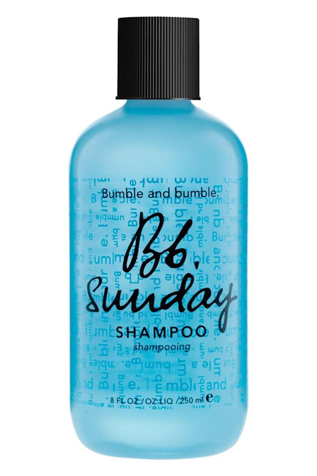 "<p><a class=""body-btn-link"" href=""https://www.cosmopolitan.com/uk/beauty-hair/hair/g13914882/clarifying-shampoo/"" target=""_blank"">WE EARN A COMMISSION FOR PRODUCTS PURCHASED THROUGH SOME LINKS IN THIS ARTICLE.</a> </p><p><a class=""body-btn-link"" href=""https://www.lookfantastic.com/bumble-and-bumble-sunday-shampoo-250ml/10542099.html"" target=""_blank"">Buy now</a></p><p>If you feel like your hair is weighed down, limp, and kinda lifeless, chances are, you have product build up on your strands. Everything from <a href=""https://www.cosmopolitan.com/uk/beauty-hair/hair/reviews/a36973/best-dry-shampoo/"" target=""_blank"">dry shampoo</a> to <a href=""https://www.cosmopolitan.com/uk/beauty-hair/hair/g10300366/best-heat-protection-spray/"" target=""_blank"">heat protection sprays</a> can cling to the hairs and over time, leave them flat and brittle.<br></p><p>Bumble and Bumble describe their Sunday Shampoo as ""a weekly detox to rid hair of product residue, hard water minerals, pollutants, you name it."" Dry shampoo addicts, this one's for you. <br></p>"