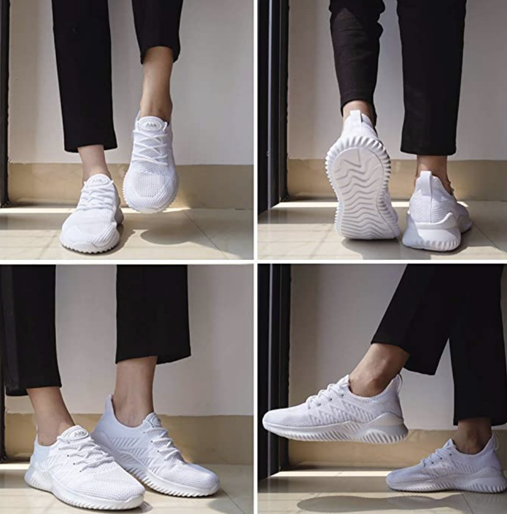Wide and roomy, these sneakers offer just the right mix of support and cushion.  (Photo: Amazon)
