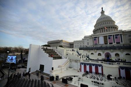 The U.S. Capitol is seen during a rehearsal for the inauguration ceremony of U.S. President-elect Donald Trump in Washington, U.S., January 15, 2017. REUTERS/Carlos Barria