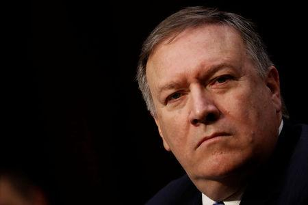 CIA Director Mike Pompeo testifies before the Senate Intelligence Committee on Capitol Hill in Washington