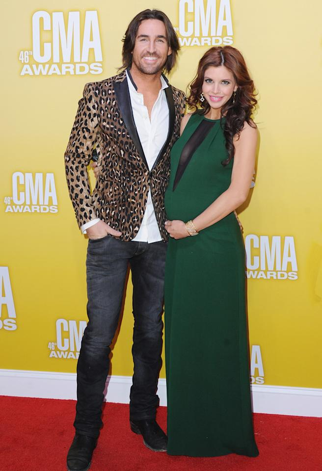 NASHVILLE, TN - NOVEMBER 01:  Recording artist Jake Owen and wife Lacey Buchanan attend the 46th annual CMA Awards at the Bridgestone Arena on November 1, 2012 in Nashville, Tennessee.  (Photo by Jon Kopaloff/FilmMagic)