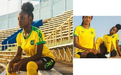 Jamaica home kit, Women's World Cup 2019 - Credit: UMBRO