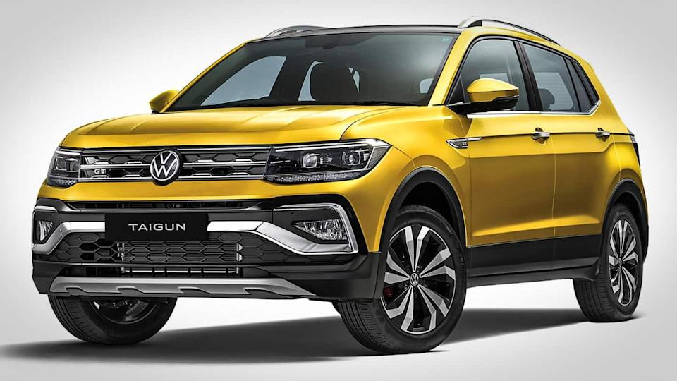 Volkswagen Taigun, with a sporty design and feature-rich cabin, unveiled
