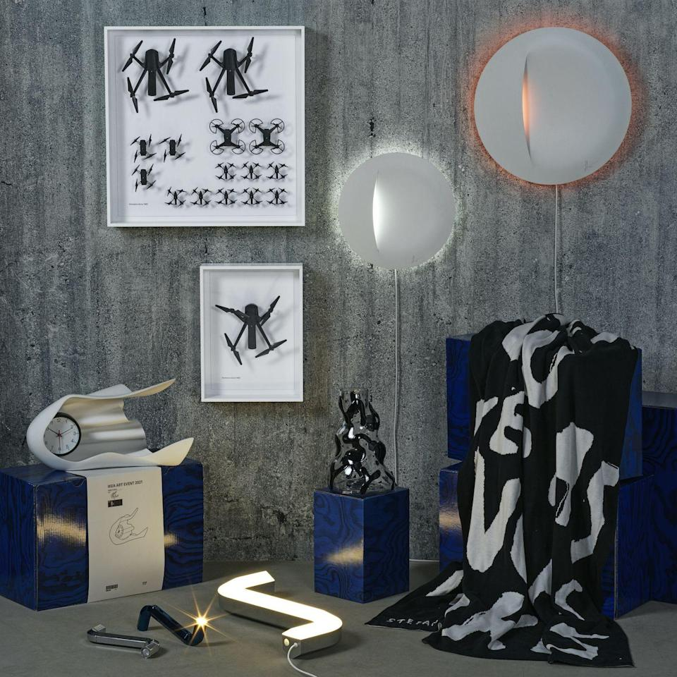 "<p>IKEA, the flatpack juggernaut responsible for revolutionizing home design and the Swedish meatball, has today unveiled a new limited-edition drop of home accessories in partnership with a group of international artists and designers. The 2021 IKEA <a href=""https://www.ikea.com/us/en/new/ikea-art-event-2021-limited-collection-pubb9b00730"" rel=""nofollow noopener"" target=""_blank"" data-ylk=""slk:Art Event"" class=""link rapid-noclick-resp"">Art Event</a>—the company's sixth such collection—features everyday objects playfully reimagined by artist Daniel Arsham (part of the design collective <a href=""http://www.snarkitecture.com/"" rel=""nofollow noopener"" target=""_blank"" data-ylk=""slk:Snarkitecture"" class=""link rapid-noclick-resp"">Snarkitecture</a>), Tokyo-based collective <a href=""http://www.gelchop.com/"" rel=""nofollow noopener"" target=""_blank"" data-ylk=""slk:Gelchop"" class=""link rapid-noclick-resp"">Gelchop</a>, Stockholm creative duo <a href=""https://www.humanssince1982.com/"" rel=""nofollow noopener"" target=""_blank"" data-ylk=""slk:Humans Since 1982"" class=""link rapid-noclick-resp"">Humans Since 1982</a>, Rotterdam-based product designer <a href=""https://sabinemarcelis.com/"" rel=""nofollow noopener"" target=""_blank"" data-ylk=""slk:Sabine Marcelis"" class=""link rapid-noclick-resp"">Sabine Marcelis</a>, and German illustrator <a href=""https://www.instagram.com/stefanmarx/?hl=en"" rel=""nofollow noopener"" target=""_blank"" data-ylk=""slk:Stefan Marx."" class=""link rapid-noclick-resp"">Stefan Marx.</a> </p><p>""We want to show that being an artist or being a designer does not mean that you have to stay in one box,"" said Henrik Most, a company creative director, in a press release. ""You can work within different fields, and that this new movement [of straddling different disciplines] has had a profound impact both on the design and art scenes today.""</p><p>The 10-piece collection includes a graffiti-influenced vase, a shadowbox of (yes) mini faux drones, and (our personal favorite) lighting inspired by IKEA's ubiquitous Allen wrench. Select items are available online now, but be sure to check with your local IKEA for in-store availability. </p><p>Peruse the IKEA Art Event offerings below—before they sell out.</p>"