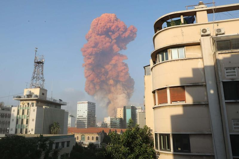 The explosion in Beirut (AFP via Getty Images)