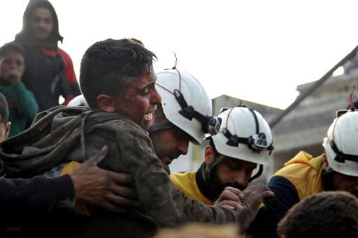 The United Nations says that since December 1, almost 350,000 people have fled the relentless bombardment of Idlib province