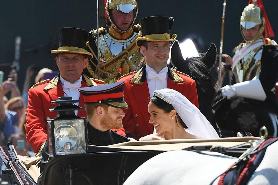 """<p>The biggest royal event of 2018 went down when <a href=""""https://www.goodhousekeeping.com/life/g20064855/prince-harry-meghan-markle-royal-wedding-photos/"""" rel=""""nofollow noopener"""" target=""""_blank"""" data-ylk=""""slk:Prince Harry and Meghan Markle tied the knot"""" class=""""link rapid-noclick-resp"""">Prince Harry and Meghan Markle tied the knot</a>. Shortly after, they announced that they are expecting their first child together!</p><p><strong>RELATED:</strong> <a href=""""https://www.goodhousekeeping.com/life/g20758205/royal-wedding-2018-recap/"""" rel=""""nofollow noopener"""" target=""""_blank"""" data-ylk=""""slk:Everything You Missed From Harry and Meghan's Wedding"""" class=""""link rapid-noclick-resp"""">Everything You Missed From Harry and Meghan's Wedding</a></p>"""