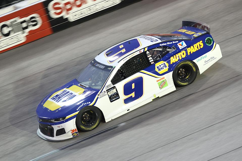 Chase Elliott said he was just frustrated to be on the receiving end of Kyle Busch's mistake while the two were battling for a potential win. (Photo by Chris Graythen/Getty Images)