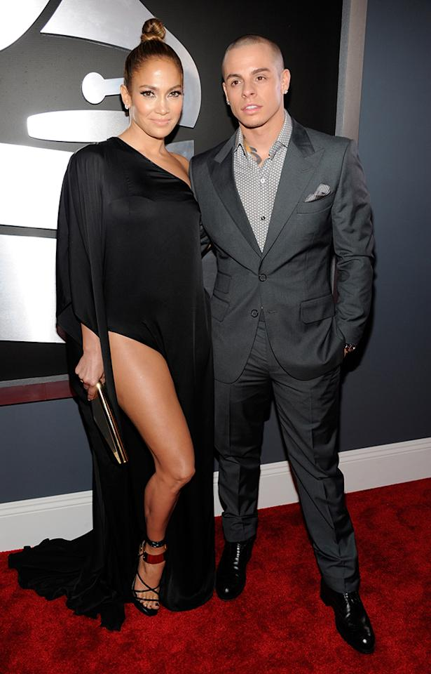 Jennifer Lopez and Casper Smart arrive at the 55th Annual Grammy Awards at the Staples Center in Los Angeles, CA on February 10, 2013.