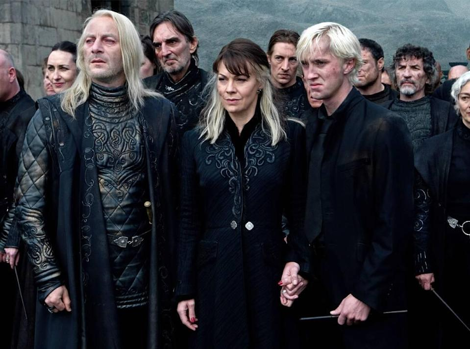 Helen McCrory, Tom Felton, Harry Potter and the Deathly Hallows Part 2
