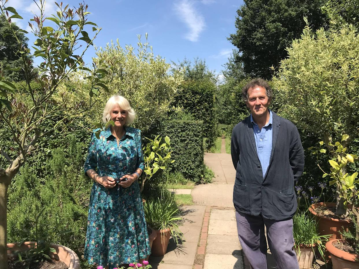 Camilla and Monty Don discuss the pest problem