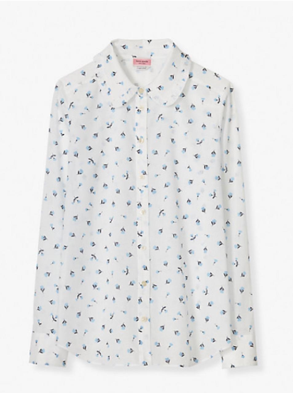 This beautiful blouse will leave you fashionably unruffled. (Photo: Kate Spade)