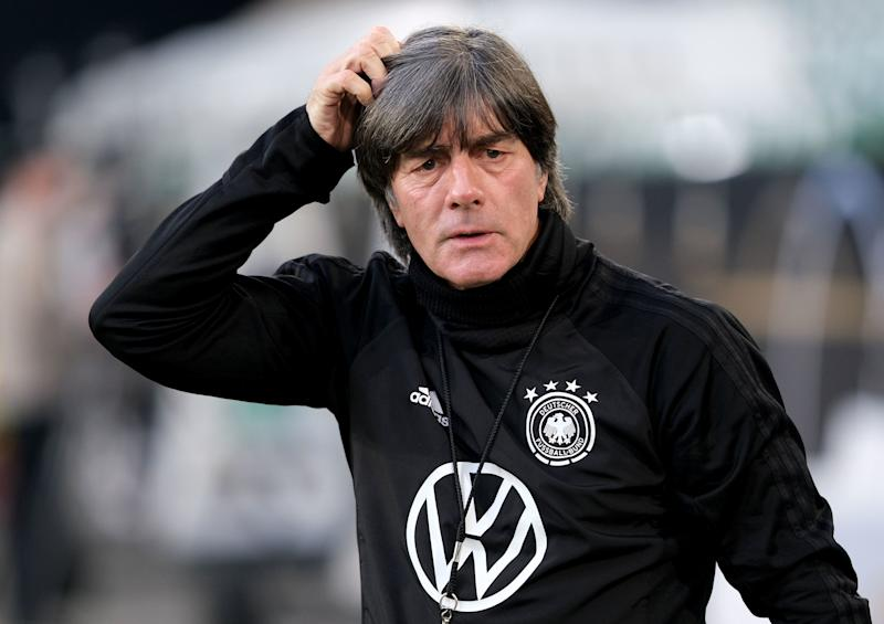 Germany's coach Joachim Loew is pictured during a training session on March 22, 2019 in Wolfsburg, northern Germany, two days before the team's UEFA Euro 2020 qualifier against the Netherlands. (Photo by Peter Steffen / dpa / AFP) / Germany OUT (Photo credit should read PETER STEFFEN/AFP/Getty Images)