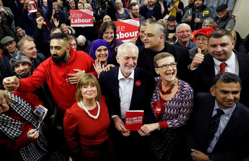 Leader of the Labour Party Jeremy Corbyn campaigns in Dudley