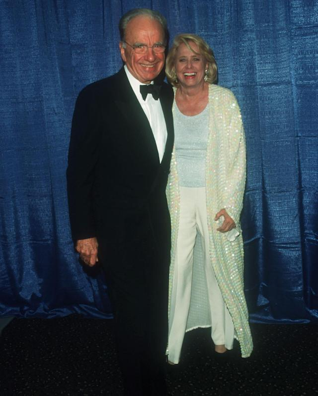Liz Smith and Rupert Murdoch at a charity event in Lincoln Center in 1999. (Photo: Evan Agostini/Liaison)