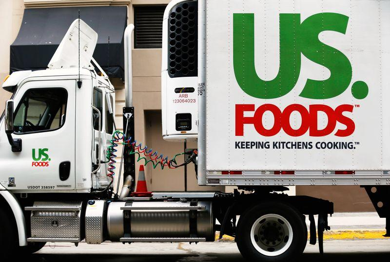 A US. Foods truck is shown on delivery in in San Diego in this file photo