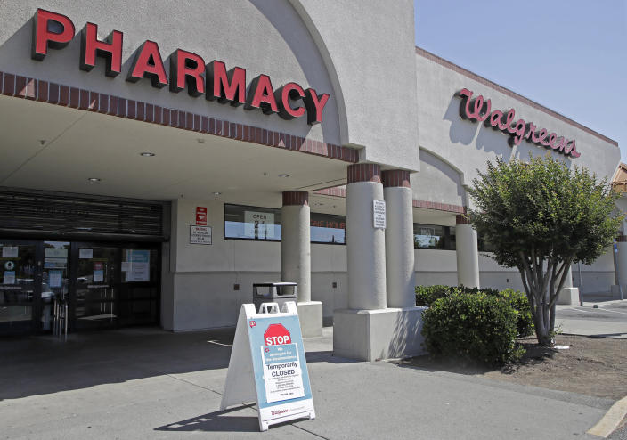 Image: A sign alerting customers to a closed Walgreens store is seen on Wednesday, June 3, 2020, in Vallejo, Calif. (Ben Margot / AP)