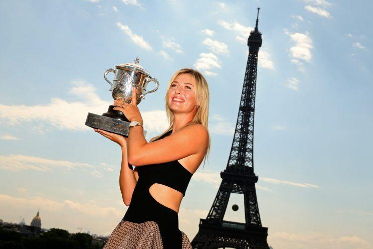 Maria Sharapova in better days in France. (Getty)