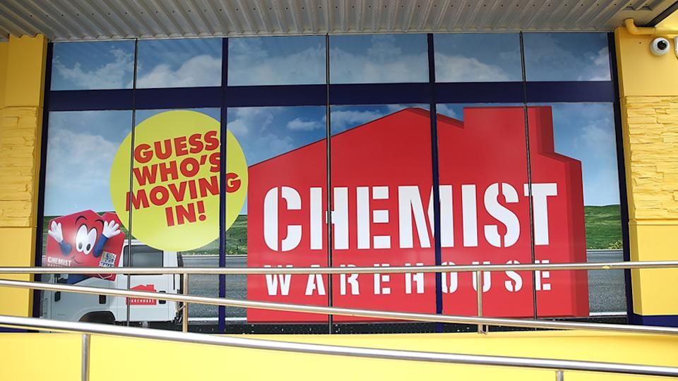 A stock photo of a Chemist Warehouse storefront.