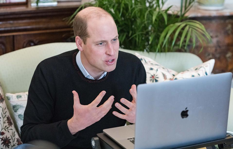William spoke to young people around the world about protecting the environment. (Kensington Palace)