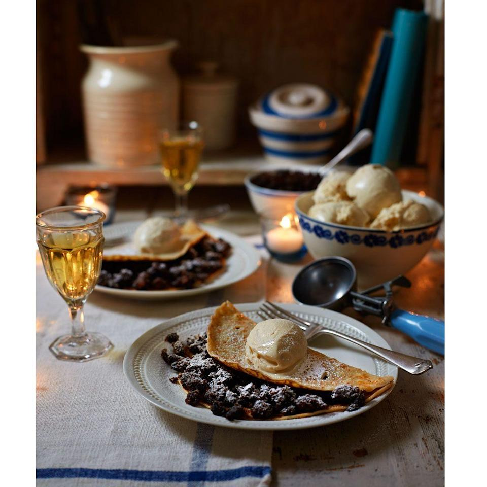 """<p>Turn leftover Christmas cake into a whole new dessert</p><p><strong>Recipe: <a href=""""https://www.goodhousekeeping.com/uk/christmas/christmas-recipes/a551696/christmas-cake-crepes/"""" rel=""""nofollow noopener"""" target=""""_blank"""" data-ylk=""""slk:Christmas cake crepes"""" class=""""link rapid-noclick-resp"""">Christmas cake crepes</a></strong></p>"""