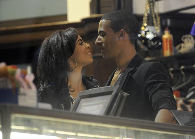 Rochelle and Marvin Humes photos: Rochelle and Marvin lark around for a cute Twitpic. Copyright [Rochelle Humes]