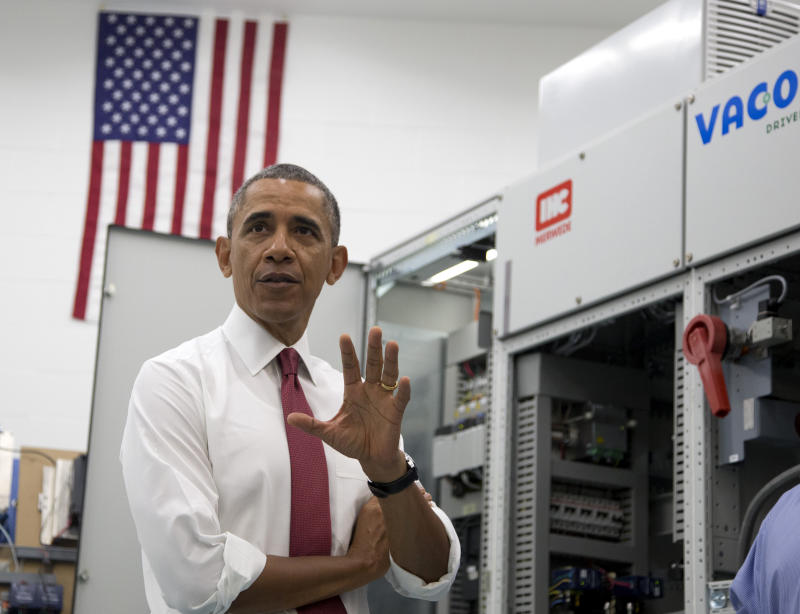 Obama announces 1st manufacturing institute in NC