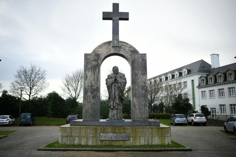 The statue of the late Pope John Paul II was gifted to Ploermel by the Georgian-born Russian artist Zourab Tseretel