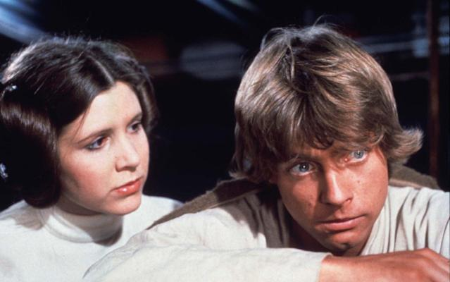 Princess Leia (Carrie Fisher) and Luke in <em>A New Hope.</em> (Photo: Lucasfilm)
