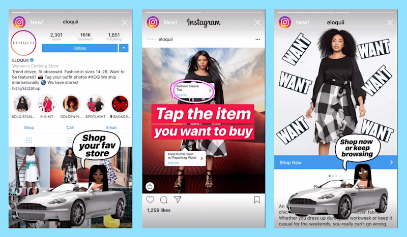 Shoppable posts on Instagram.