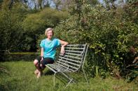 Sophie Grenville poses for a photogragh in her garden at home in Alresford