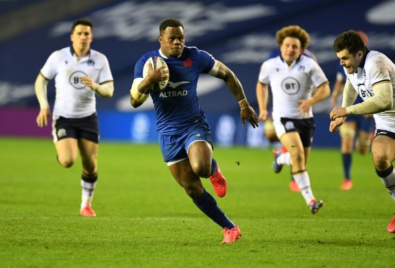 Key score - Virimi Vakatawa (2L) runs in the only try of France's 22-15 win over Scotland at Murrayfield