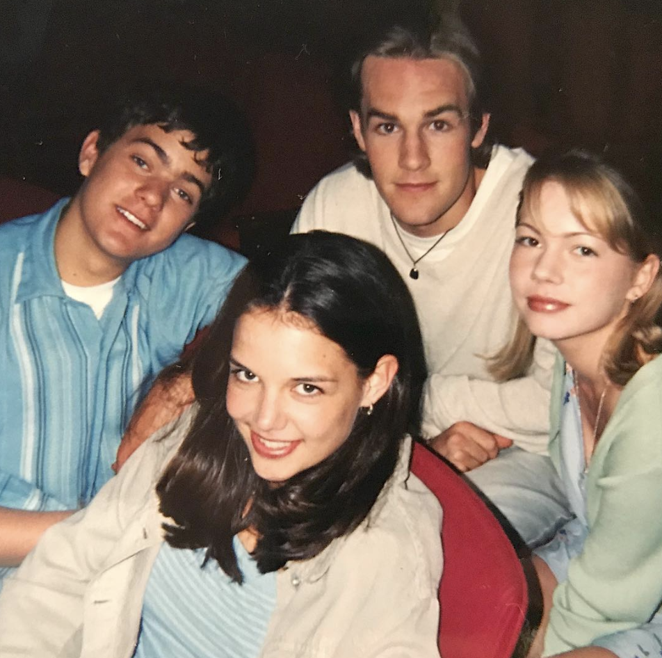 "<p>""Squad '97. I'd known these people all of 7 days when this pic was taken,"" the very grateful <em>Dawson's Creek</em> star captioned this shot with his former castmates, Joshua Jackson, Katie Holmes, and Michelle Williams, in a lengthy post. ""20 years ago this week the little pilot we shot in that small town for that fledgling network aired, changed our lives and launched our careers. Thank you to the Wilmington, North Carolina crew and community who raised us & kept us sane, thank you to the many talented writers and producers who gave of your hearts talents and put up with us. And thank you especially to the fans of the show."" (Photo: <a rel=""nofollow"" href=""https://www.instagram.com/p/BeYSLIClhHn/?taken-by=vanderjames"">James Van Der Beek via Instagram</a>) </p>"