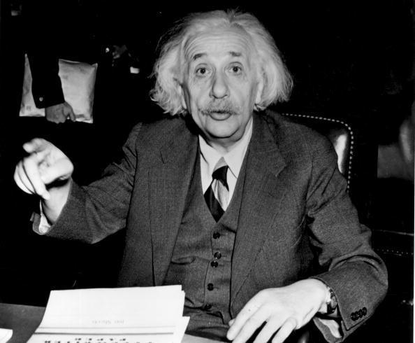 German born American physicist Albert Einstein (1879 - 1955), in 1946: Getty Images