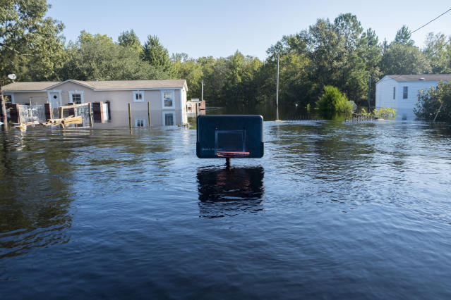 Devastating flooding from Hurricane Florence ravaged communities in North Carolina and South Carolina. (AP)