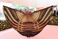 As the president of five Broadway theatres, Jordan Roth was expected to arrive in a theatrical ensemble - and he didn't disappoint. While his outfit's wingspan remains unknown, the New Yorker took the theme very seriously. Photo: Getty Images