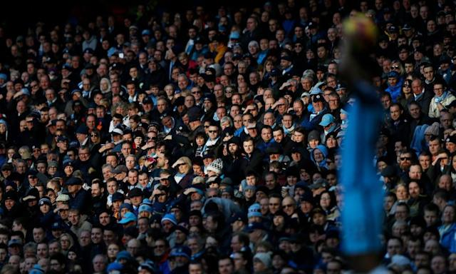 "<span class=""element-image__caption"">City fans: excitement tinged with disappointment.</span> <span class=""element-image__credit"">Photograph: Carl Recine/Reuters</span>"